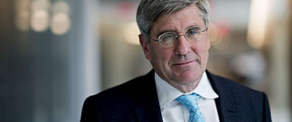 PHOTO: Stephen Moore, visiting fellow at the Heritage Foundation, stands for a photograph following a Bloomberg Television interview in Washington, D.C., March 22, 2019.