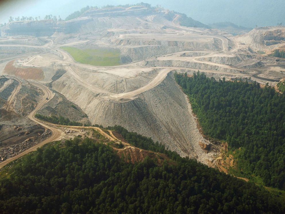 PHOTO: A June 13, 2008 photo shows a large mountaintop coal mining operation in West Virginia.