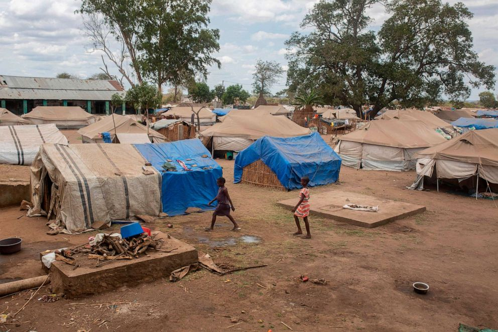 PHOTO: This general view, on Dec. 10, 2020, shows an abandoned warehouse now used as a shelter for displaced people where 610 families live, in the province of Cabo Delgado, Mozambique.