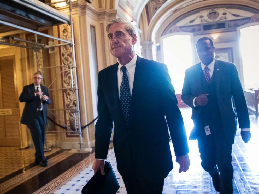 PHOTO: In this Wednesday, June 21, 2017 file photo, Special Counsel Robert Mueller departs the Capitol after a closed-door meeting with members of the Senate Judiciary Committee.