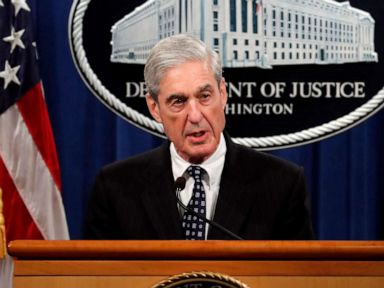 PHOTO: This May 29, 2019 file photo shows special counsel Robert Mueller speaking about the Russia investigation at the Department of Justice in Washington.