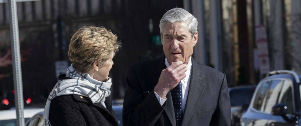 PHOTO: Ann Mueller and Special Counsel Robert Mueller, March 24, 2019, in Washington, D.C.