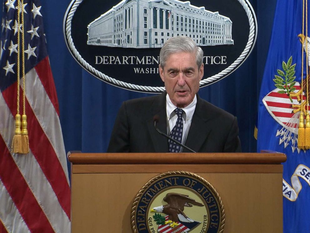 PHOTO: Special Counsel Robert Mueller makes a statement about the Russia investigation on May 29, 2019 at the Justice Department in Washington, D.C.