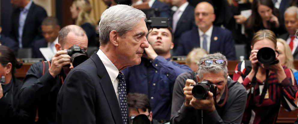PHOTO: Former special counsel Robert Mueller arrives to testify before the House Judiciary Committee hearing on his report on Russian election interference, on Capitol Hill, July 24, 2019 in Washington, D.C.
