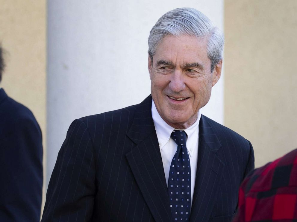 PHOTO: Special CounselRobert Mueller leaves after attending church on March 24, 2019 in Washington, D.C.