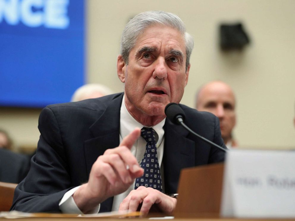 PHOTO: Former special counsel Robert Mueller testifies before the House Intelligence Committee hearing on his report on Russian election interference, in Washington, D.C., July 24, 2019.