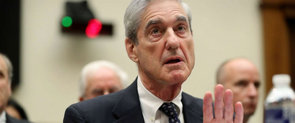 PHOTO: Former special counsel Robert Mueller testifies before the House Judiciary Committee hearing on his report on Russian election interference, on Capitol Hill, in Washington, Wednesday, July 24, 2019. (AP Photo/Andrew Harnik)