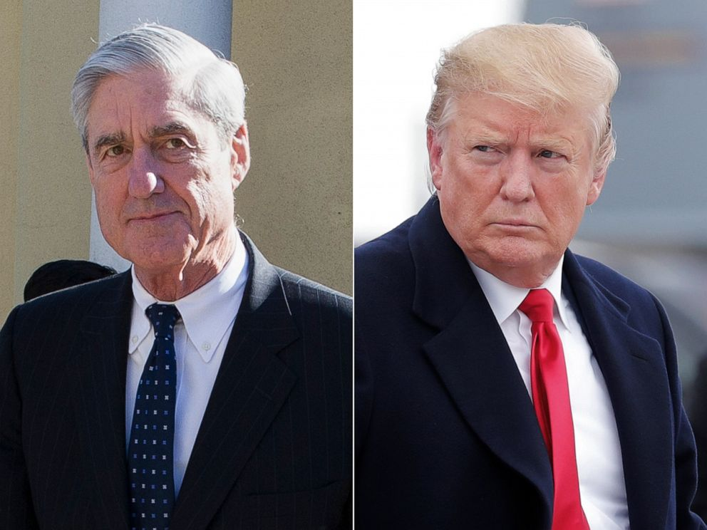 PHOTO: Special Counsel Robert Mueller, left, and President Donald Trump, right.