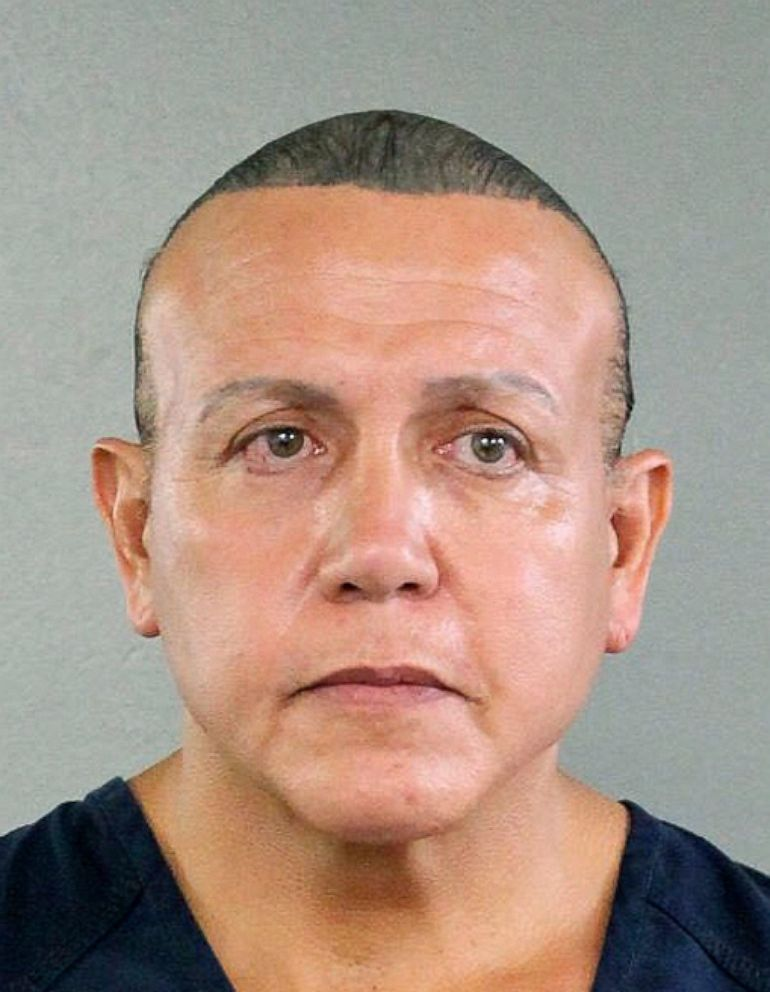PHOTO: Cesar Sayoc is seen in this undated booking photo, released by the Broward County Sheriffs office and provided by the Associated Press, in Miami.