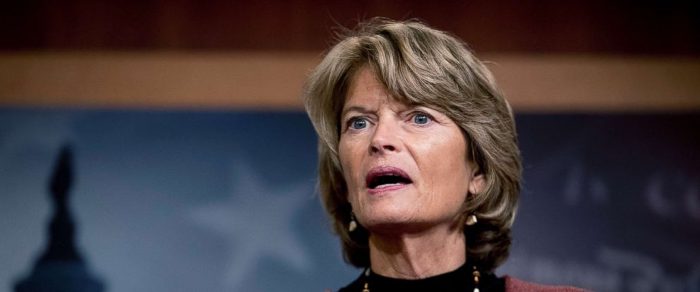 PHOTO: Sen. Lisa Murkowski, R-Alaska, speaks at a news conference after two Senate bills to ending the partial government shutdown failed on Capitol Hill, Jan. 24, 2019.