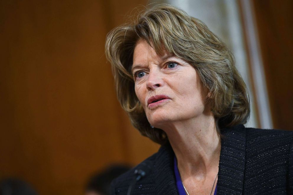 PHOTO: Senate Energy and Natural Resources Committee Chair Lisa Murkowski speaks during a committee hearing in the Dirksen Senate Office Building on Capitol Hill in Washington, D.C., Feb. 28, 2019.