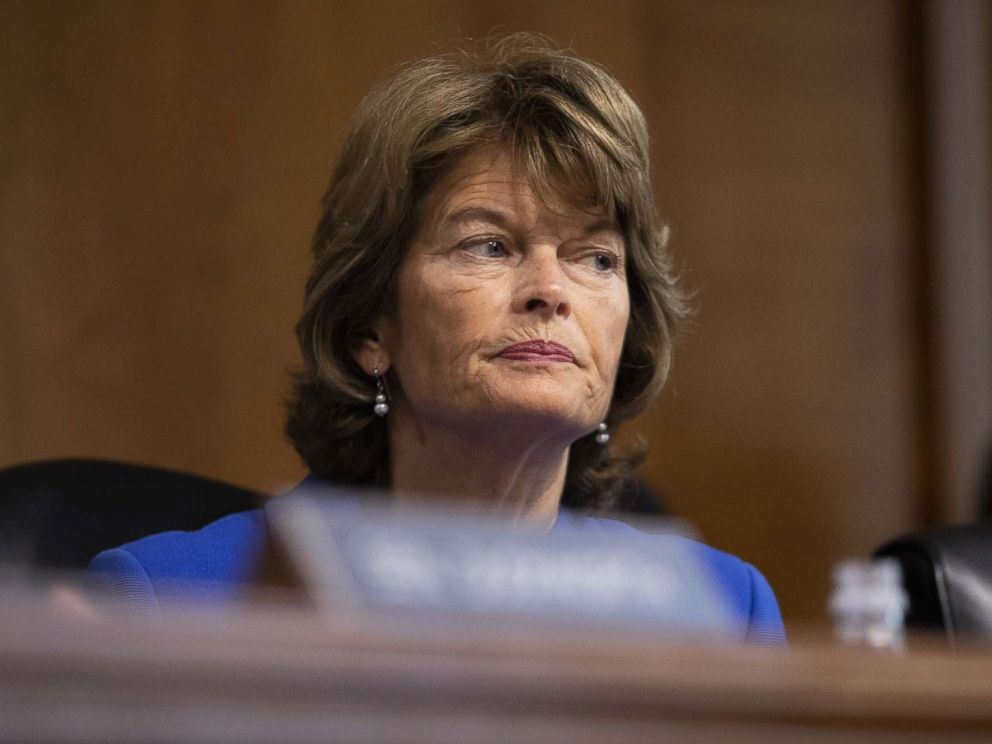 PHOTO: Sen. Lisa Murkowski on Capitol Hill, September 25, 2018 in Washington.