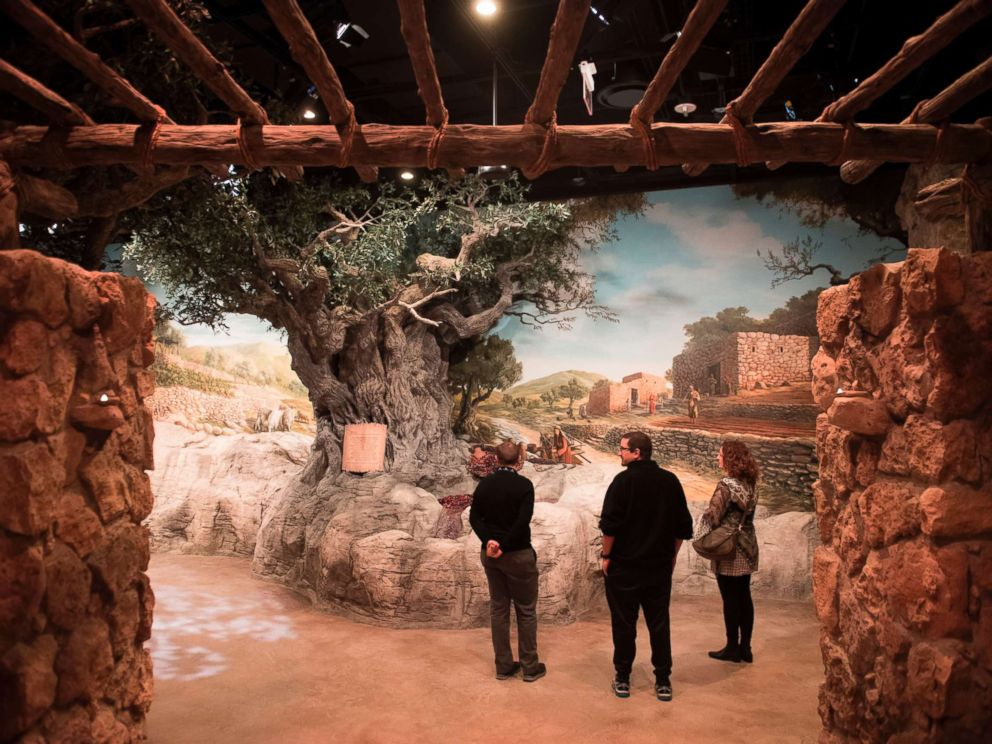 PHOTO: Visitors tour the World of Jesus of Nazareth exhibit during a media preview of the new Museum of the Bible, a museum dedicated to the history, narrative and impact of the Bible, Nov. 14, 2017, in Washington.
