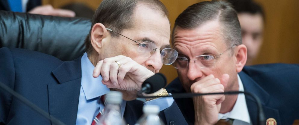 PHOTO: Chairman Jerrold Nadler and ranking member Rep. Doug Collins conduct a House Judiciary Committee markup in Rayburn Building on a resolution to authorize the issuance of subpoenas to obtain the full Robert Mueller report on April 3, 2019.