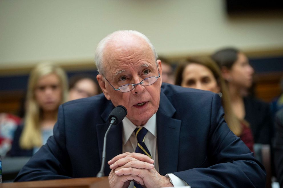 PHOTO: Former White House counsel John Dean speaks at a House Judiciary Committee hearing titled Lessons from the Mueller Report: Presidential Obstruction and Other Crimes, on June 10, 2019.