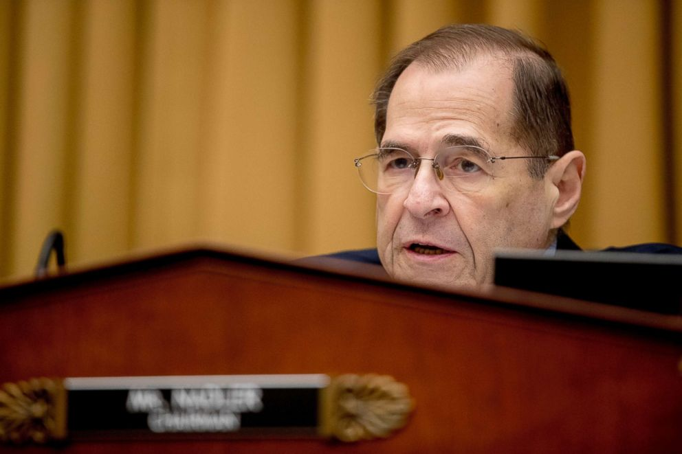 PHOTO: Chairman of the Justice Committee, Jerrold Nadler, D-N.Y., Chief Prosecutor of Matthew Whitaker, appearing before the House Judiciary Committee at Capitol Hill, February 8, 2019.  t