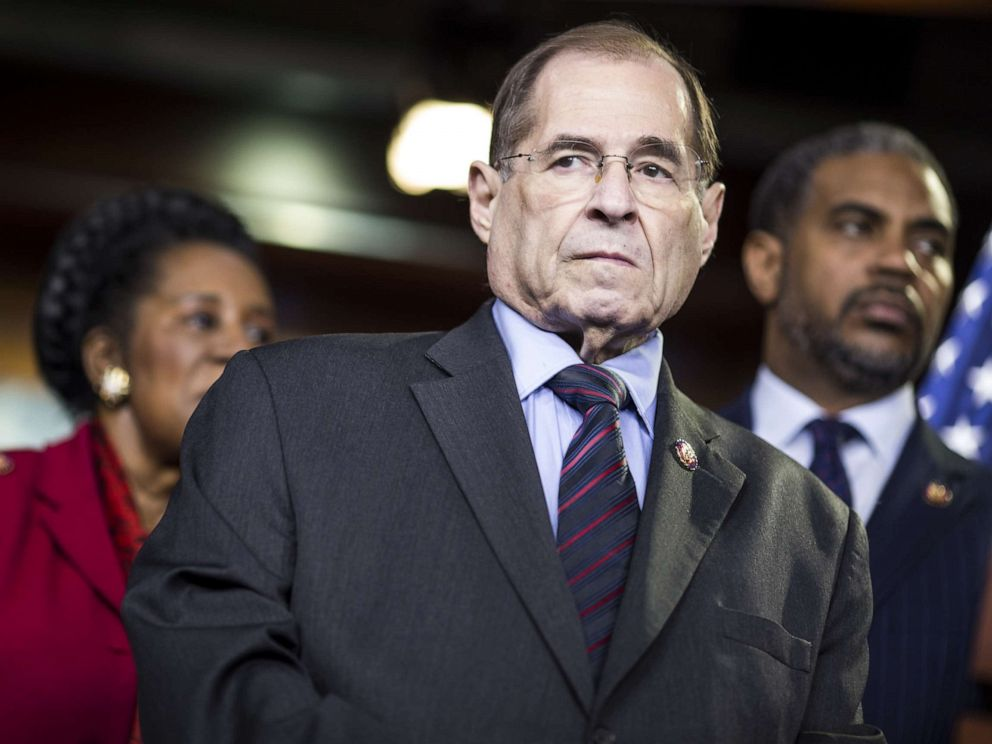 PHOTO: House Judiciary Committee Chairman Rep. Jerry Nadler (D-NY) attends a news conference, April 9, 2019, in Washington, D.C.