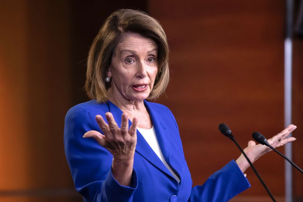 PHOTO: Speaker of the House Nancy Pelosi talks to reporters during a news conference at the Capitol in Washington, Jan. 31, 2019.
