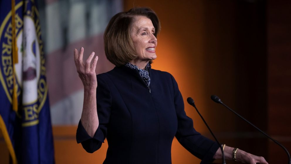 House Democratic leader Nancy Pelosi of California holds a news conference at the Capitol in Washington, Thursday, Dec. 13, 2018.