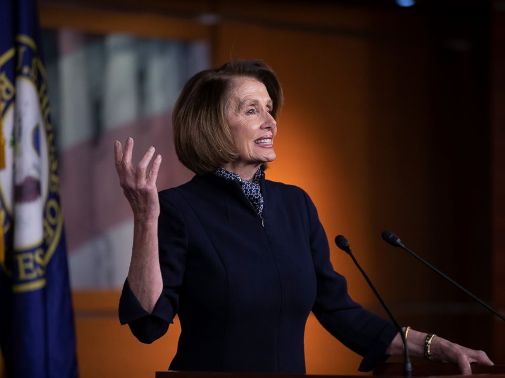 PHOTO: House Democratic leader Nancy Pelosi of California holds a news conference at the Capitol in Washington, Thursday, Dec. 13, 2018.