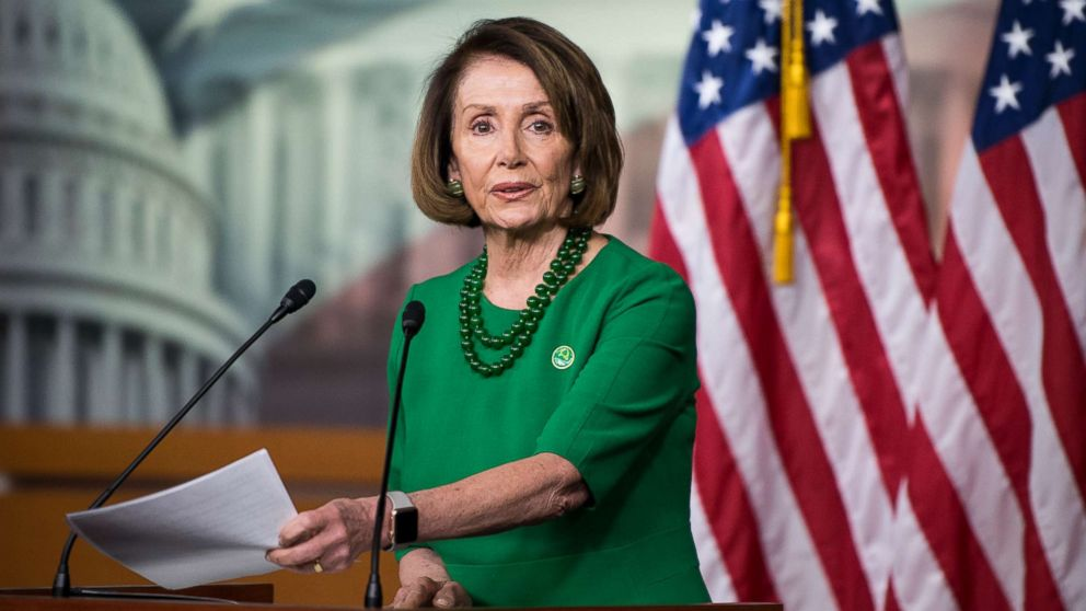 House Minority Leader Nancy Pelosi holds her weekly press conference in the Capitol in Washington, Dec. 6, 2018.