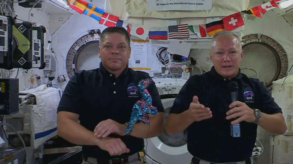 History-making NASA-SpaceX astronauts returning from International Space Station