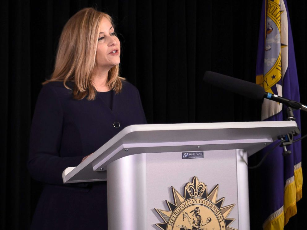 PHOTO: Mar 6, 2018; Nashville, TN, USA; Nashville Mayor Megan Barry announces her resignation at a press conference in the mayors conference room at Metro Courthouse, March 6, 2018, in Nashville, Tenn.