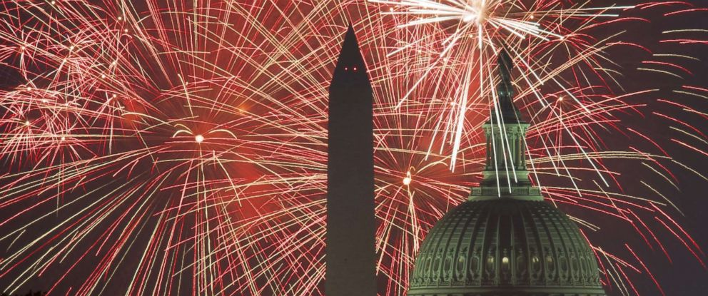 PHOTO: Fireworks explode over the National Mall on July 4, 2017, in Washington.