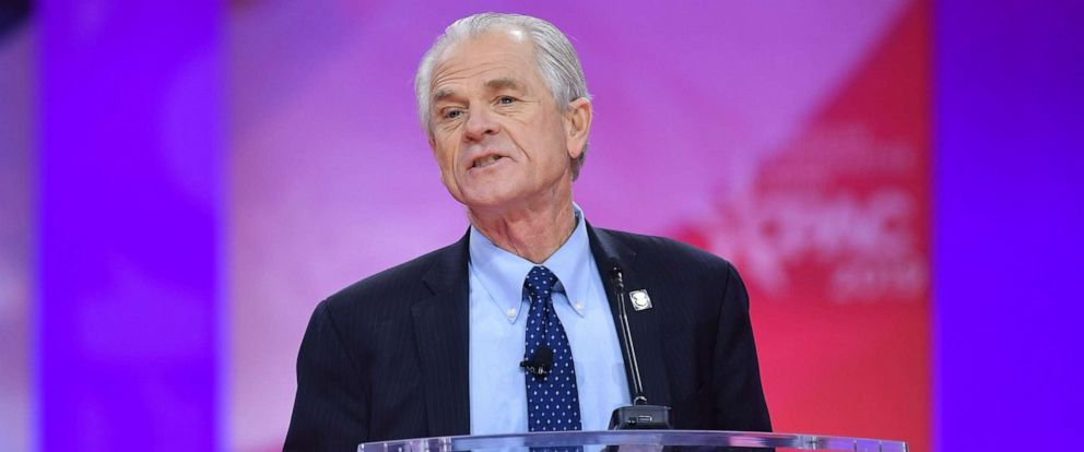 PHOTO: White House Director of Trade and Industrial Policy Peter Navarro speaks during the annual Conservative Political Action Conference (CPAC) in National Harbor, Maryland, on March 1, 2019.