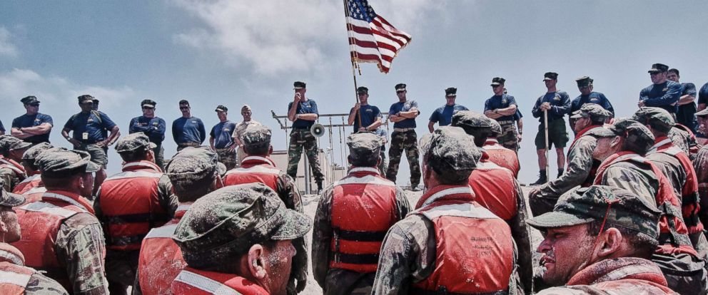 """PHOTO: Navy Seals during """"Hell Week"""" on Aug. 29, 2015."""