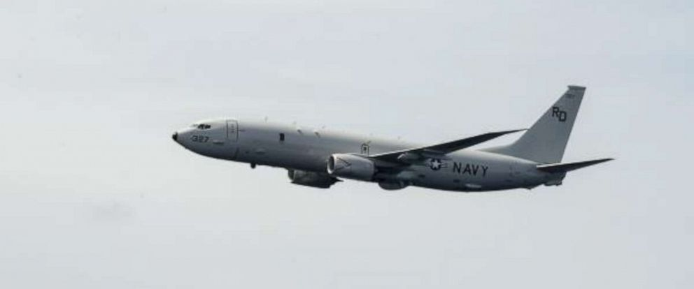 PHOTO: A P-8A Poseidon is seen in a photo provided by the U.S. Navy.