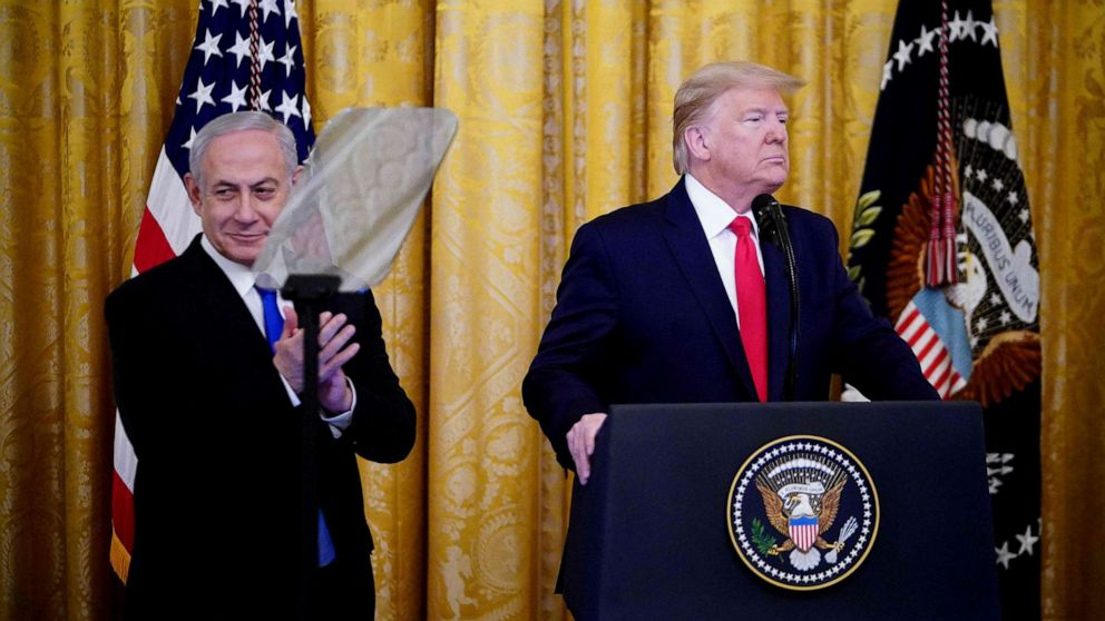 Trump unveils Middle East peace plan embraced by Israel, rejected by Palestinians thumbnail