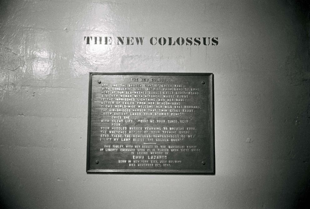 The Story Behind The New Colossus Poem On The Statue Of
