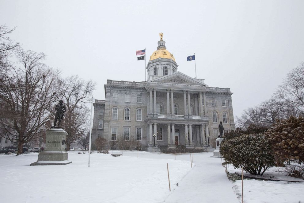 PHOTO: The New Hampshire State House on a snowy day in Concord, N.H., Feb. 8, 2016.