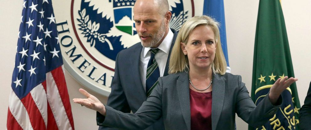 Image result for Images of Kirstjen Nielsen and Ronald Vitiello