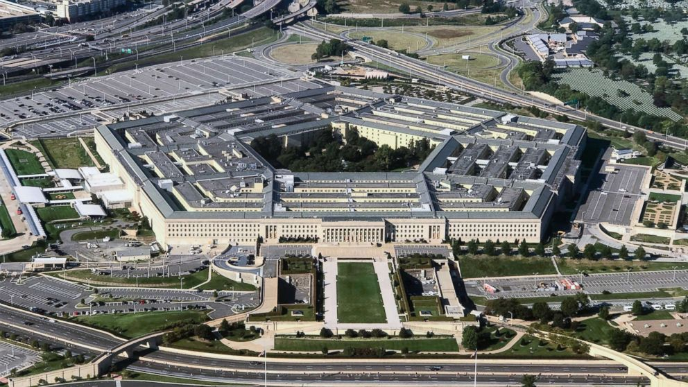 An aerial view of the Pentagon building photographed on Sept. 24, 2017.