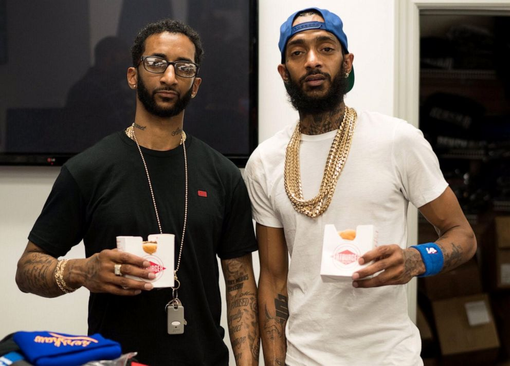PHOTO: Nipsey Hussle and his brother, Samiel Asghedom.