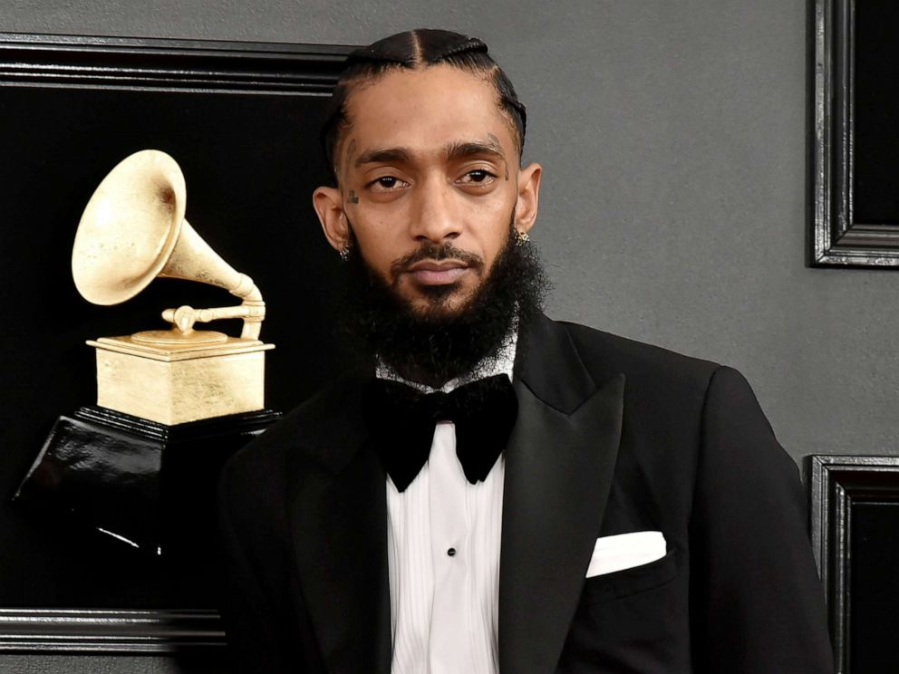 PHOTO: Nipsey Hussle attends the 61st annual Grammy awards at Staples Center, Feb. 10, 2019, in Los Angeles.