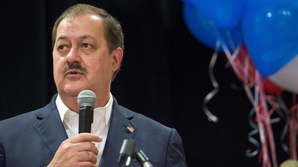 Republican U.S. Senate candidate Don Blankenship speaks to his supporters during the primary election in Charleston, West Virginia, May 8, 2018.