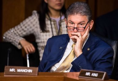 PHOTO: Sen. Joe Manchin listens during the Senate (Select) Intelligence Committee confirmation hearing for Gina Haspel, nominee to be director of the Central Intelligence Agency, May 9, 2018.