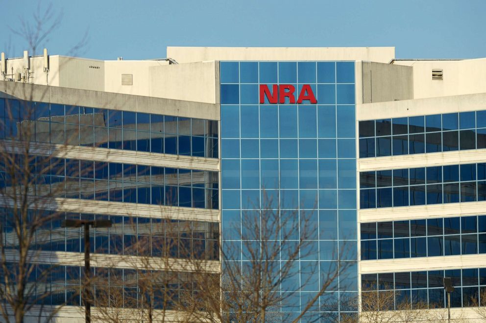 PHOTO: The National Rifle Association of America headquarters building is seen on Jan. 10, 2013, in Fairfax, Va.