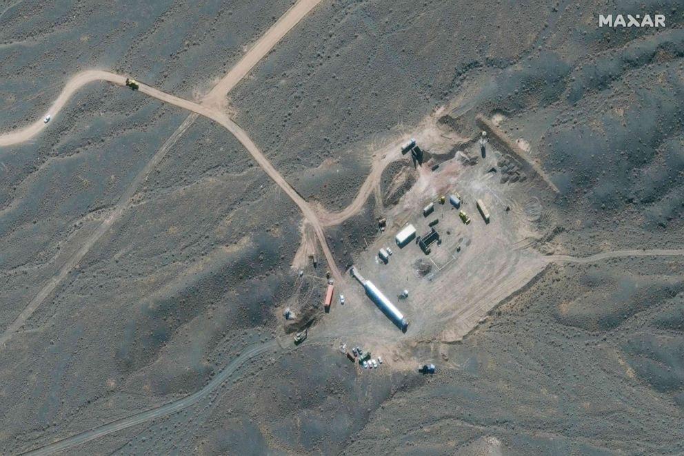ФОТО: Раздаточная фотография, предоставленная Maxar Technologies 8 января 2020 года, показывает обзор иранского ядерного объекта в Натанзе, к югу от столицы Тегерана.