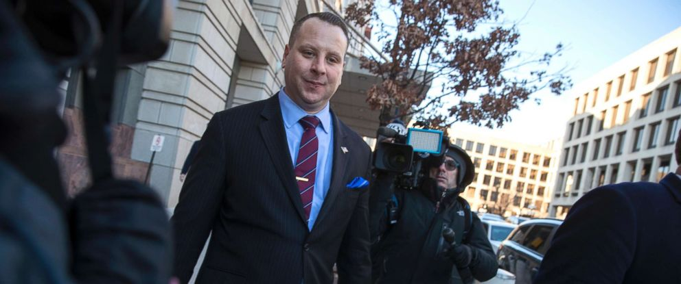 PHOTO: Trump campaign aide Sam Nunberg leaves the U.S. District Courthouse after a day before a grand jury as ordered by special counsel Robert Mueller who is investigating the campaigns ties to Russian officials, in Washington D.C., March 9, 2018.