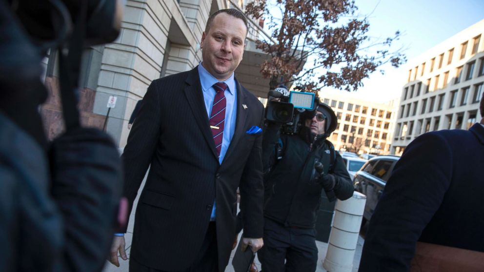 Trump campaign aide Sam Nunberg leaves the U.S. District Courthouse after a day before a grand jury as ordered by special counsel Robert Mueller who is investigating the campaign's ties to Russian officials, in Washington D.C., March 9, 2018.