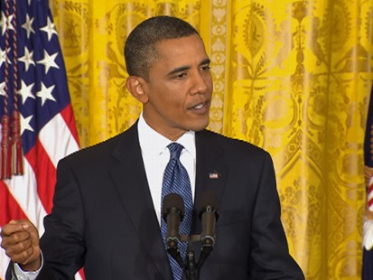 VIDEO: President Obama urges Republicans to support a bill to aid small business.