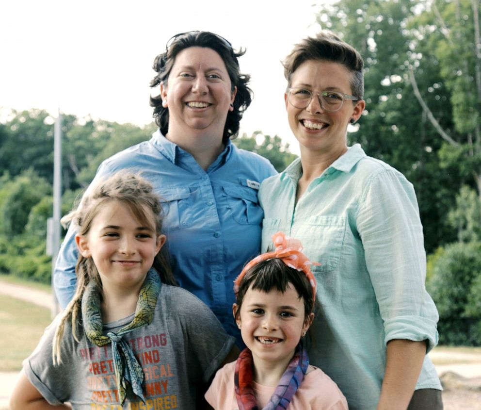 PHOTO: Brandy Welch (left) and Eden Rogers are pictured with their two daughters in this undated photo.