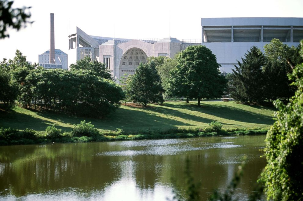PHOTO: A general view of the Ohio State Buckeyes campus in Columbus, Ohio.