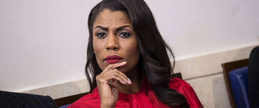 PHOTO: Director of Communications for the White House Public Liaison Office Omarosa Manigault listens during the daily press briefing at the White House, Oct. 27, 2017.