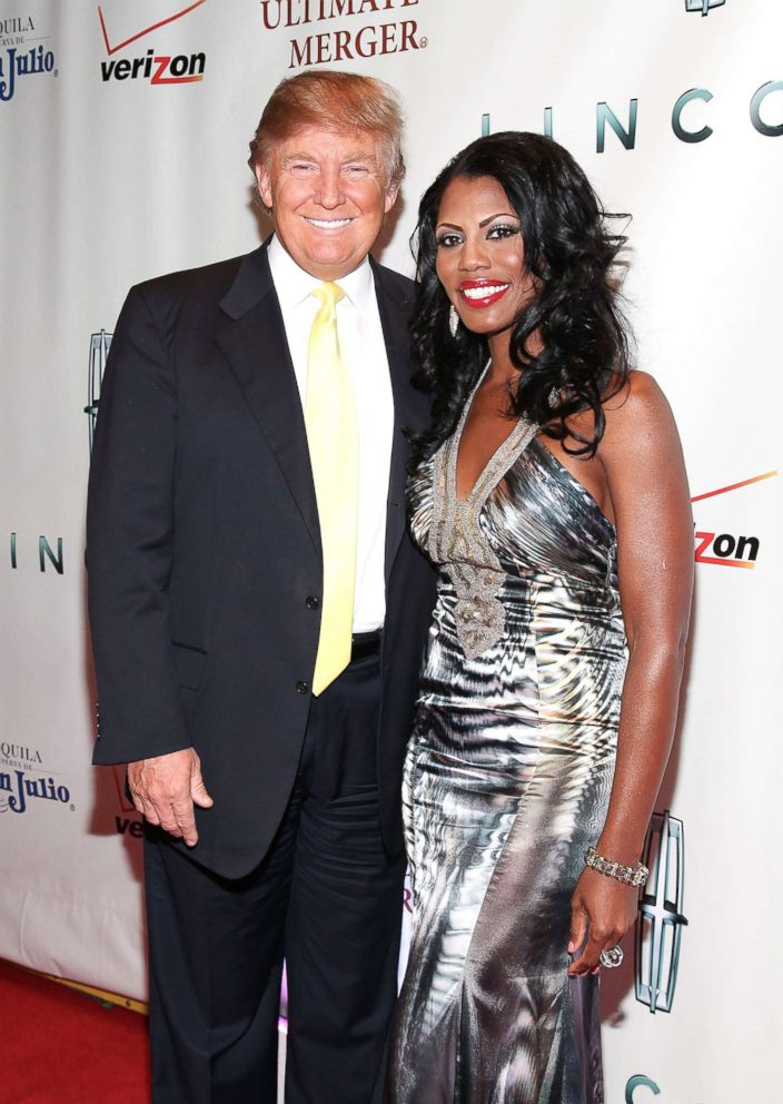 PHOTO: Donald Trump and Omarosa attend The Ultimate Merger premiere at Trump Tower on June 14, 2010 in New York City.