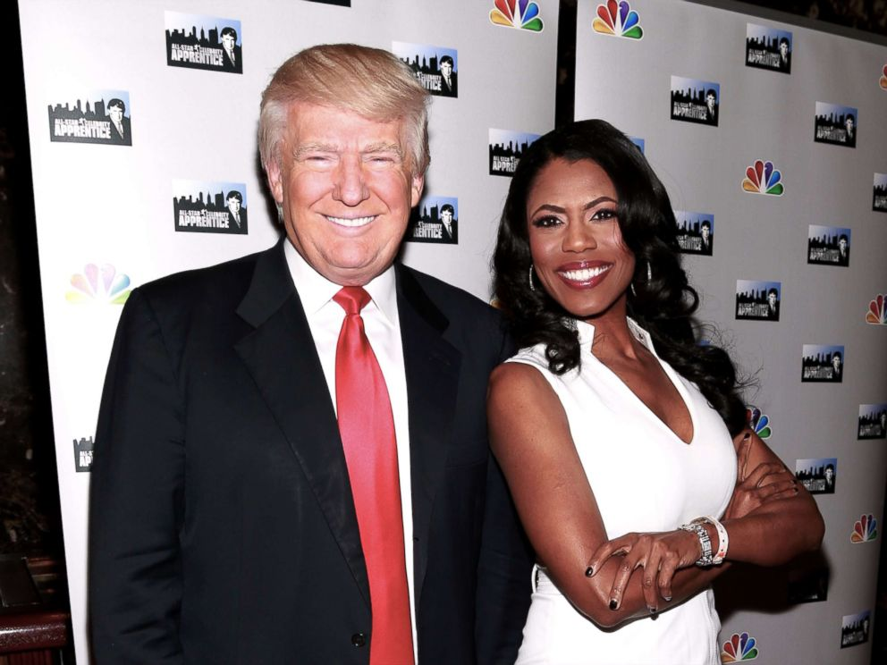 PHOTO: Donald Trump and actress Omarosa Manigault attend the All-Star Celebrity Apprentice Red Carpet Event at Trump Tower on April 1, 2013, in New York City.